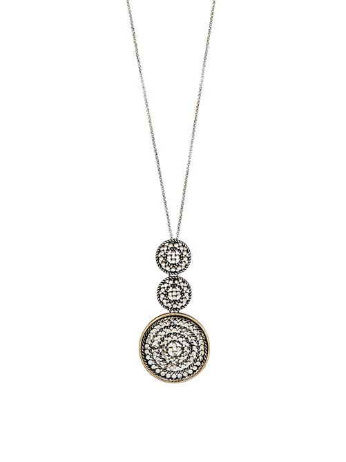 Ava Tri Cutout Circle Necklace