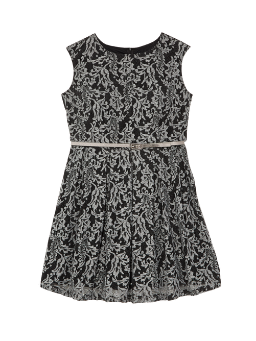 Whey Cap Sleeve Lace Dress With Belt Diaco