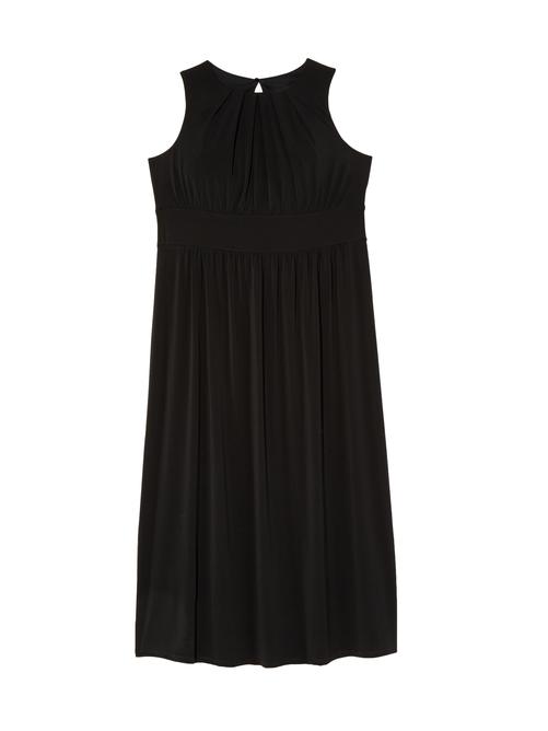 Calista Pleated Neck Maxi Dress