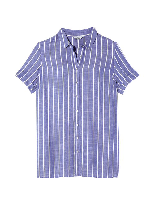 Kenza Short Sleeve Button Down Tunic