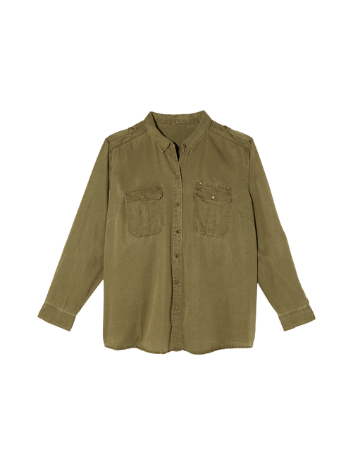 a005184d32 Cece Button Down Top - Olive Green   Dia&Co