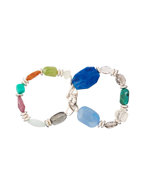 Aden Multi-Stone Stretch Bracelet 2
