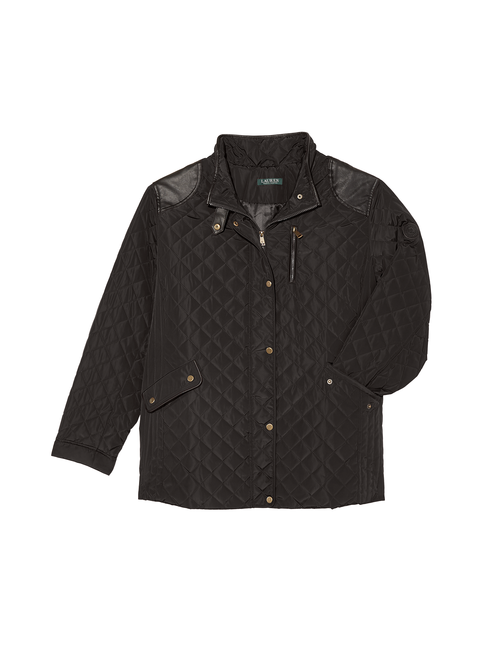 Como Quilted Jacket with Faux Leather Accents 2