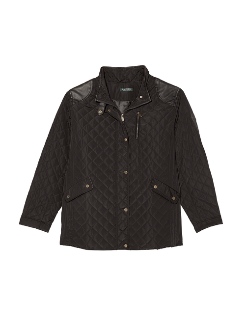 Como Quilted Jacket with Faux Leather Accents