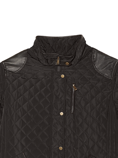 Como Quilted Jacket with Faux Leather Accents 3