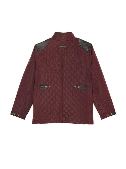 Como Quilted Jacket with Faux Leather Accents 1
