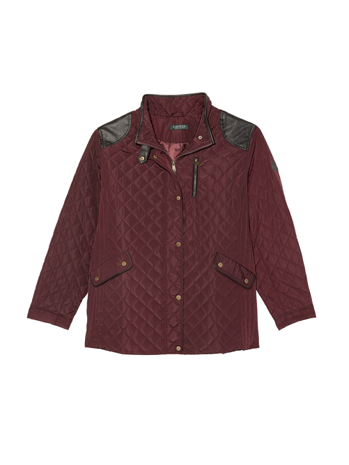 Como Quilted Jacket with Faux Leather Accents 0