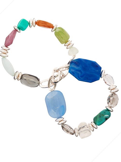 Aden Multi-Stone Stretch Bracelet