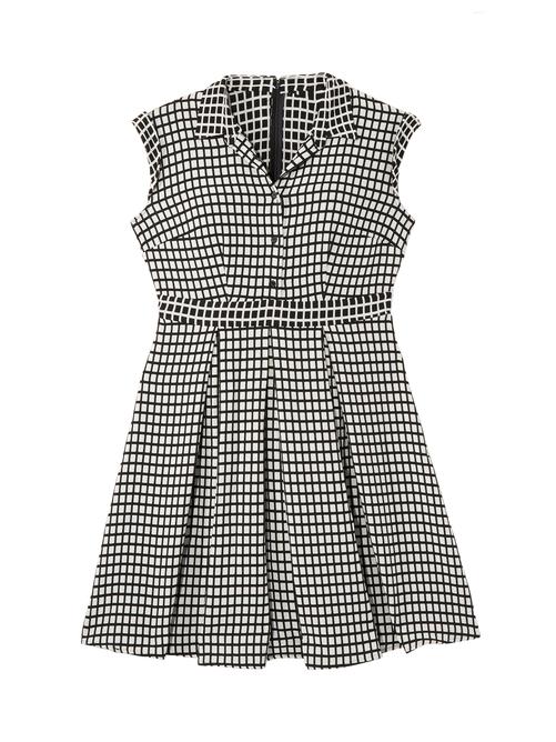 Adora Checker Jacquard Shirt Dress