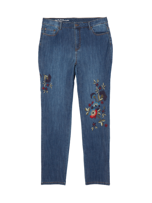 Mulberry Embroidered Jean