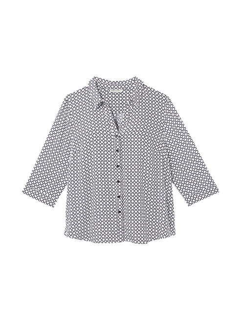 Jane 3/4 Sleeve Collared Shirt