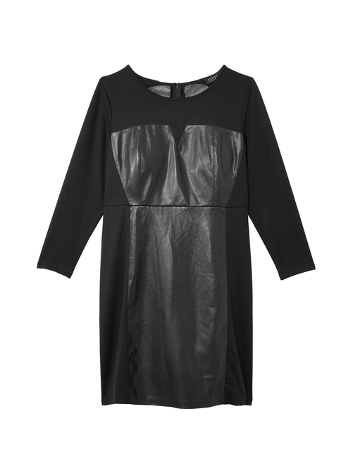 Destiny Faux Leather Dress 0