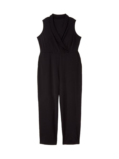Janet Slim Leg Faux Wrap Jumpsuit