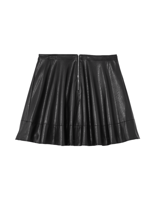 Meuse Faux Leather Flare Skirt 1