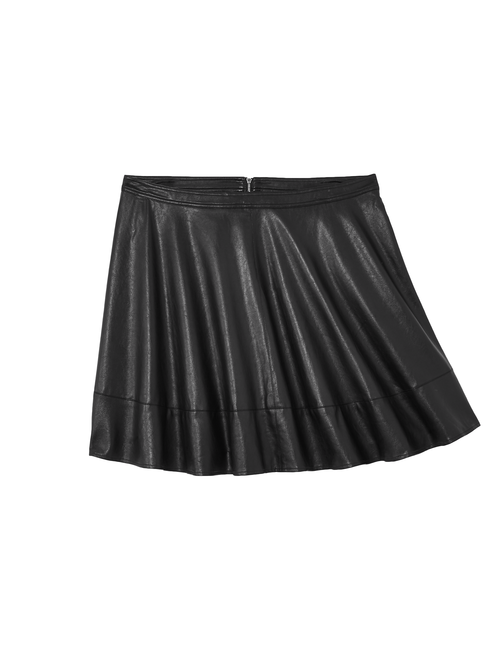 Meuse Faux Leather Flare Skirt 2