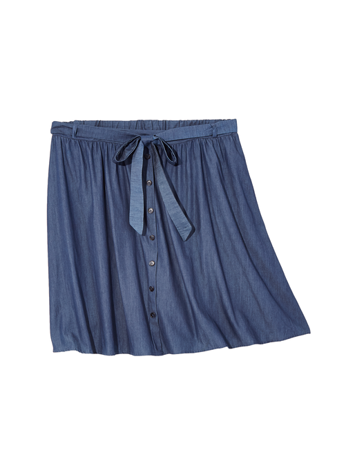 Hudson Button Chambray Skirt 2