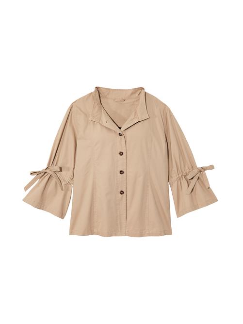 Leona 3/4 Flared Sleeve Shirt Jacket