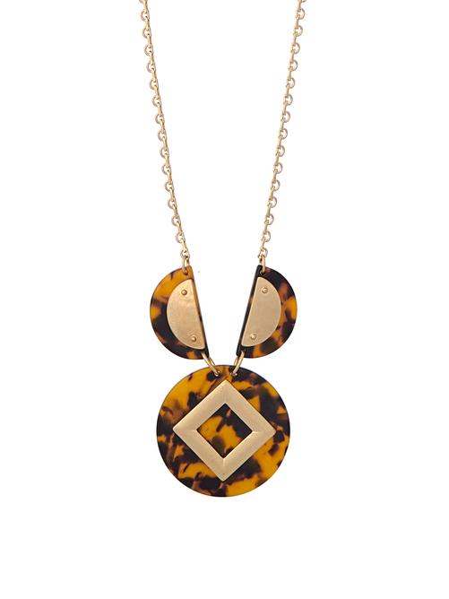 Lena Circle Gem Necklace