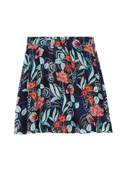 Orchid Elastic Waist A-Line Skirt