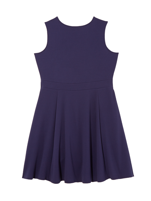 Ortiga Sleeveless Textured Fit and Flare Dress 1