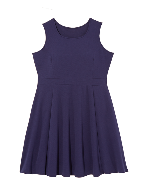 Ortiga Sleeveless Textured Fit and Flare Dress 0