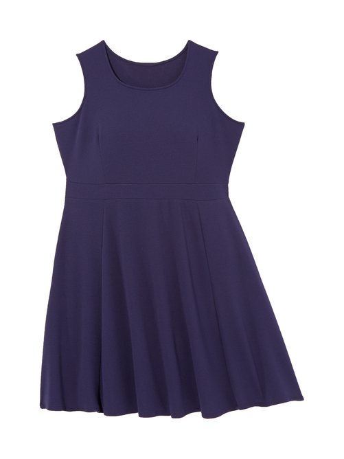 Ortiga Sleeveless Textured Fit and Flare Dress 2