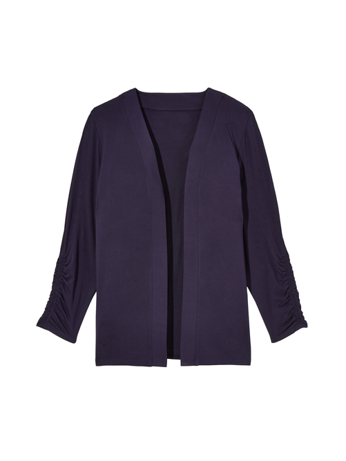 Donna Long Ruched Sleeve Cardigan 0