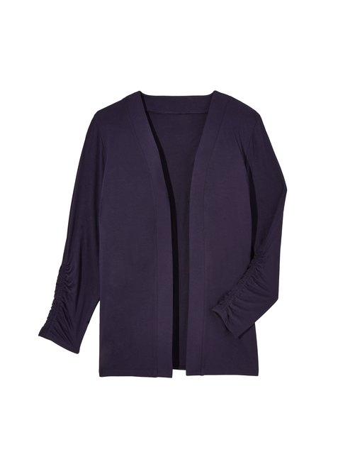 Donna Long Ruched Sleeve Cardigan 2