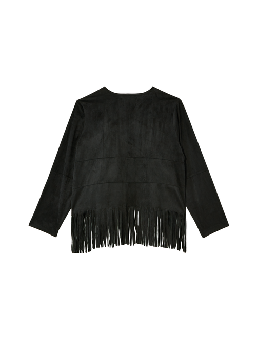 Jazz Faux Suede Fringe Jacket 1