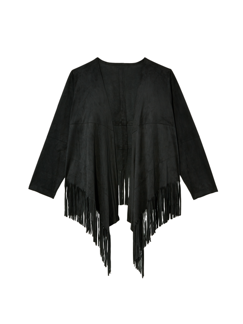 Jazz Faux Suede Fringe Jacket