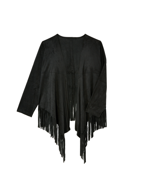 Jazz Faux Suede Fringe Jacket 2