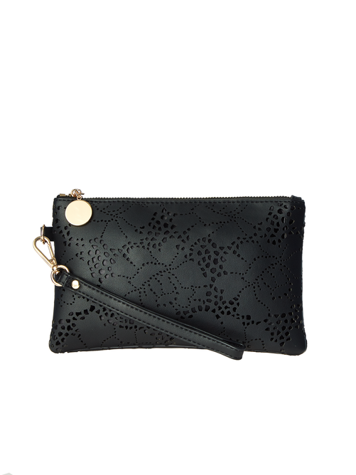 Monica Perforated Wristlet