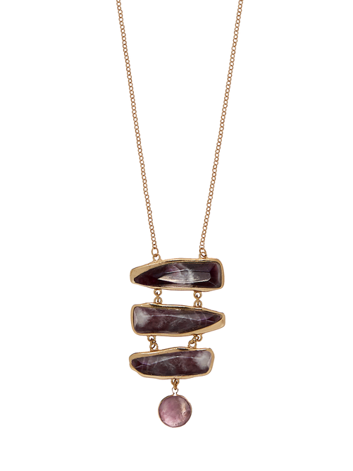 Carly Ladder Stone Necklace